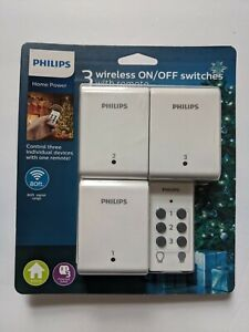 Philips Indoor Lighting Control with Wireless Remote Switch 3 Receivers ON/OFF