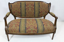 French Louis XVI Solid Walnut Loveseat Completely Reupholstered, circa 1920's