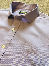 GORGEOUS POLO RALPH LAUREN LILAC GINGHAM SHIRT 15.5 COST £95