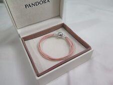 New Pandora Pink Small Multi Strand Cord Bracelet 590715CSP M1 Gift set opt