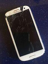 SAMSUNG S3 BIANCO GUASTO PARTI RICAMBIO NON FUNZIONANTE ROTTO PHONE