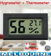 DIGITAL LCD HYGROMETER HUMIDITY METER TESTER REPTILE TEMPERATURE THERMOMETER