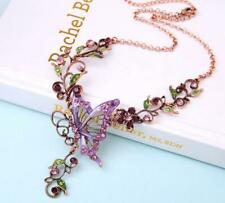 Betsey Johnson Fashion woman Alloy rhinestone Enamel Butterfly flower Necklaces