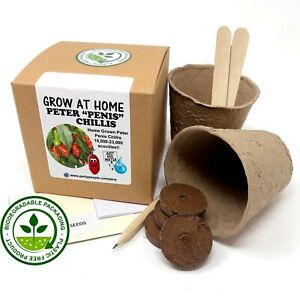 Grow Your Own Peter Penis Chilli Willie Kit (Rude!!) - Ideal Hen Party Gift