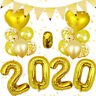 2020 Happy New Year Number Gold Foil Balloons Eve Party Decor Merry Christmas TO