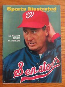TED WILLIAMS Sports Illustrated 3/17/69 Magazine WASHINGTON SENATORS No Label