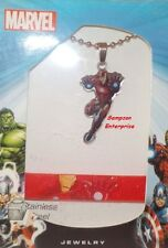 MARVEL IRON MAN PENDANT NECKLACE AND RUBBER BRACELET SET