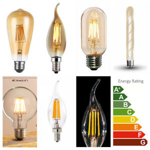 Vintage Industrial Filament LED Light Bulb Bulbs Squirrel Cage Edison A+ 4 PACK