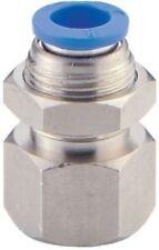 Pneumatic Push In Air Fittings - 5 x Female Bulkhead 6mm hose - 1/8 thread