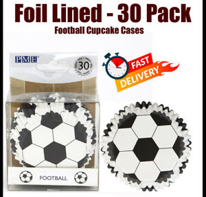 Pme Bc829 Football Cupcake Cases, Foil Lined - 30 Pack 50mm Base
