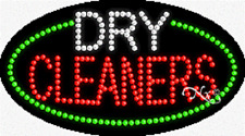 New Dry Cleaners 27x15 Oval Solidanimated Led Sign Withcustom Options 24197