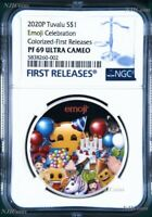 2020 emoji™ Celebration .9999 1oz Silver $1 Proof Coin NGC PF69 First Releases