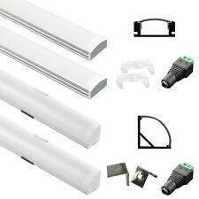 2-10X 12V LED Licht Streifen Einbauleiste Aluprofil Lichtleiste 50CM 100CM 150CM
