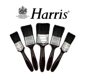 Harris 5 Piece Paint Brush Set Professional Decorating Pure Bristle DIY Brushes