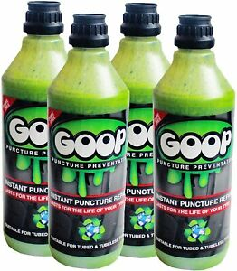 Goop Puncture Preventative / 4 x 1 Litre Bottles / Made in UK / Made in UK