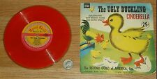"1953 VINTAGE RECORD GUILD AMERICA ""THE UGLY DUCKLING""&""CINDERELLA""  RED VINYLITE"