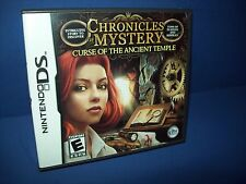 Nintendo DS Chronicles of Mystery~Curse Ancient Temple ~ game; case & manual