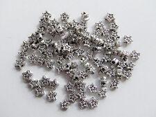40pz  perline  stella spacer separatori  4mm colore argento scuro