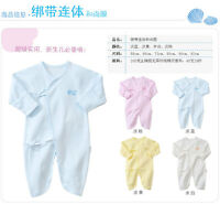 Boys Kids Baby Infant 100% Cotton Long Sleeve Baby romper Sleepwear Protect cuff