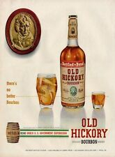 1951 Old Hickory Bourbon Whisky PRINT AD Bottle Great ad Fun Artwork Decor