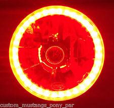 RED Halo H4 Headlights Angel Eye for Toyota Corolla KE10 KE20 KE30 KE55 Hilux