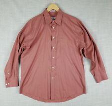 JOSEPH & FEISS Mens Pink Non-Iron Cotton Long Sleeve Dress Shirt 16.5 (32/33)
