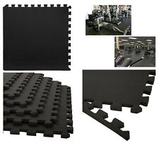 16 Ft Mousse Noir Eva Interlocking Floor Mat GYM JOUER Home garageworkout 60x60cm