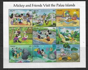 HICK GIRL- MINT PALAU SOUVENIR SHEET   DISNEY  MICKEY & FRIENDS VISIT         A1