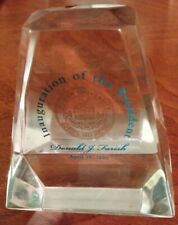 Rowan University Glassboro Nj Resin Paperweight Inaugeration President 1999
