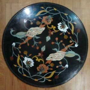 "12"" Table Marble Inlay Top pietra Dura Home garden coffee dining  Decor t44"