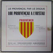 Le Provençal par le disque Coffret 33 Tours x 3 Lou Prouvençau a l'Oustau