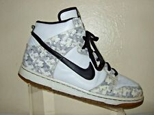 06 Nike SB Dunk High Snow Camo Black/White/Gray Men's Shoes Size 12 #309432-102