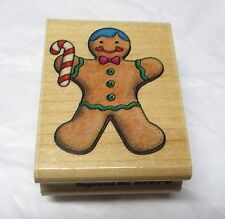 Rubber Stampede Gingerbread man rubber stamp wood mounted A505 - D Christmas