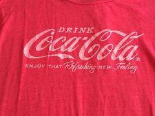Drink Coca-Cola T Shirt Sz M - Graphic Distressed Red Tee - EUC Refreshing