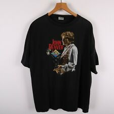 John Denver The Wild Life Concert Vintage T-shirt Size XL Black 90s