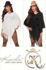Ärmellose Damen-Pullover & -Strickware aus Acryl mit V-Ausschnitt ohne Muster