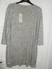 SIZE 18 GREY MIX LONGER LENGTH PER UNA JUMPER MARKS AND SPENCER