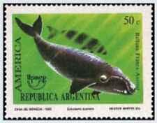 Timbre Faune marine Cétacés Baleines Argentine 1831 ** année 1993 lot 22836
