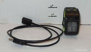 Black/Green Nike+Sportwatch GPS Powered by TomTom Fitness Tracking Watch WM0069