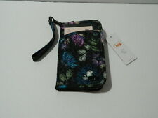 LUG TANDEM NORTH SOUTH SPECIAL EDITION RFID WALLET BLOOM BLACK NWTS FREE SHIP!