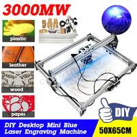 3000MW Mini Desktop Laser Engraving Machine 50X65CM DIY Carve Logo Printer 3.0W