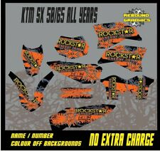 KTM SX 50 65 Motocross Graphics Kit Decals Stickers MX All Years ROCKST