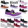Women's Flat Sandals Trainers Ladies Casual Beach Walk Elasticated Shoes Slip On