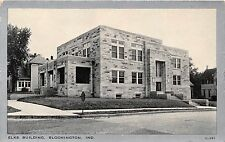 BLOOMINGTON INDIANA ELKS BUILDING~STONE BLOCK~CLEAR VIEW G-391 POSTCARD c1930s