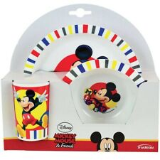 Micky Maus Mouse  Kinderteller Kinder Geschirr Melamin SET Becher+Schale+Teller