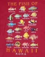 The Fish of Hawaii Kona NWOT T-Shirt Men's Size Small S Red