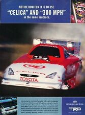 2002 Toyota 300hp Celica Race  Original Advertisement Print Art Car Ad J560