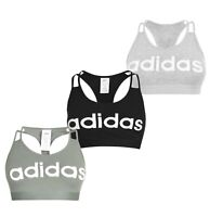 Ladies Adidas Sportswear Linear Training Sports Crew Bra Top Sizes from 8 to 22