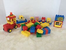 Lego Duplo Figures Truck Train Cars with building blocks