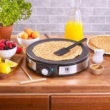 Heska - Electric Crepe Pancake Maker Non-Stick Breakfast Maker Dessert - 1200W